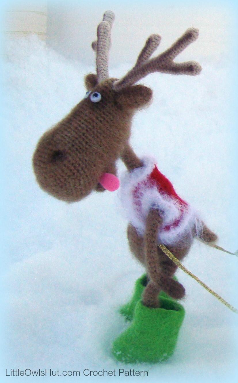 060 Dear Reindeer with accessories - Crochet Pattern PDF file Amigurumi by Borisenko