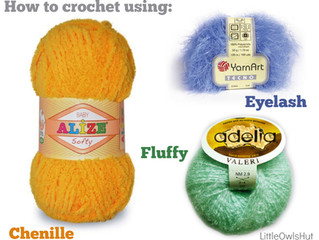 9 TIPS How to crochet using fluffy/fancy/eyelash/chenille yarn
