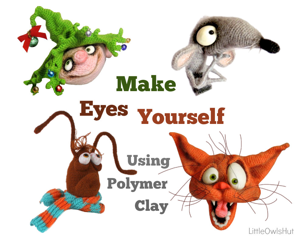 Polymer clay eyes for toys