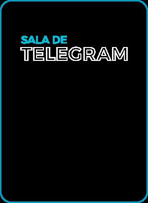 Toda as turmas dos nossos cursos vivem a experiência da sala de aula com o Telegram, com muita interação e troca.