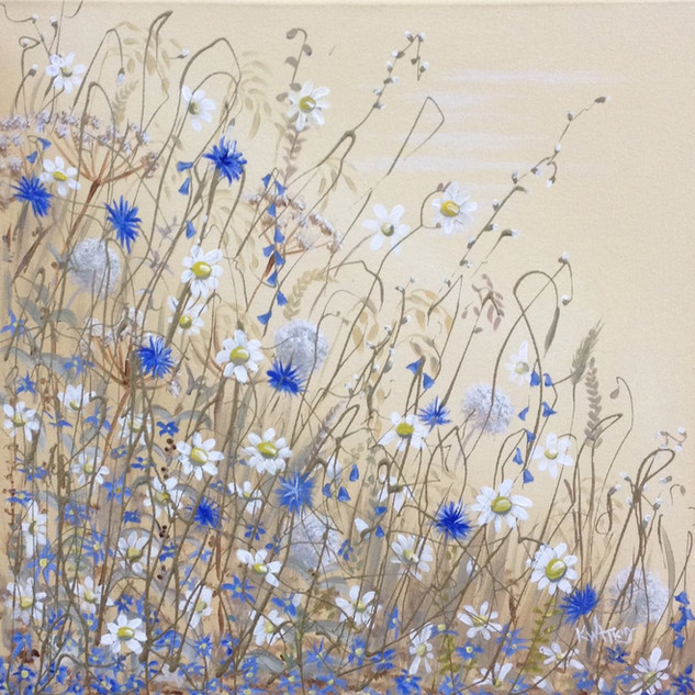 Daisies and Cornflowers SOLD