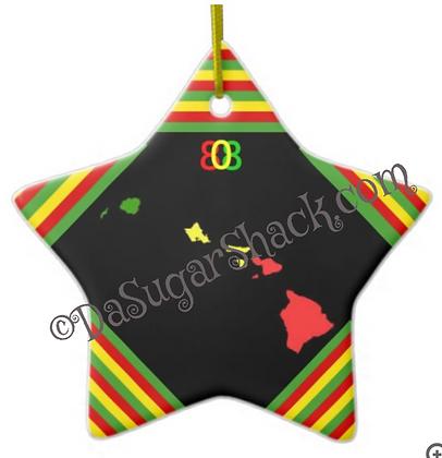 Rasta Hawai'i Star Ornament