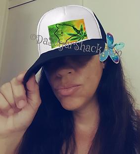 Hawaiian Plumeria Flower/Designer Trucker Hat ©DaSugarShack.com