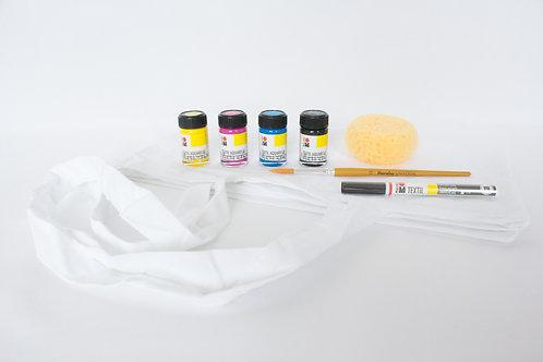 Textil Aquarelle Starter-Set (inkl. Stofftaschen)