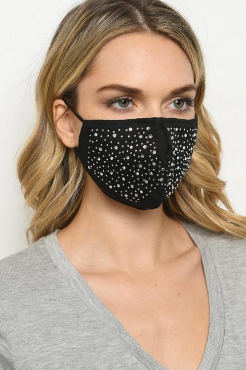 Diva Rhinestone Face Mask