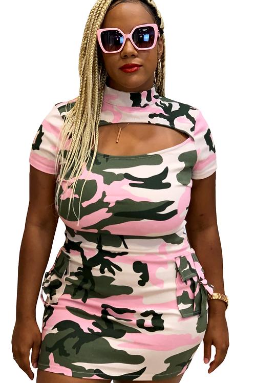 Pink Camo Dress