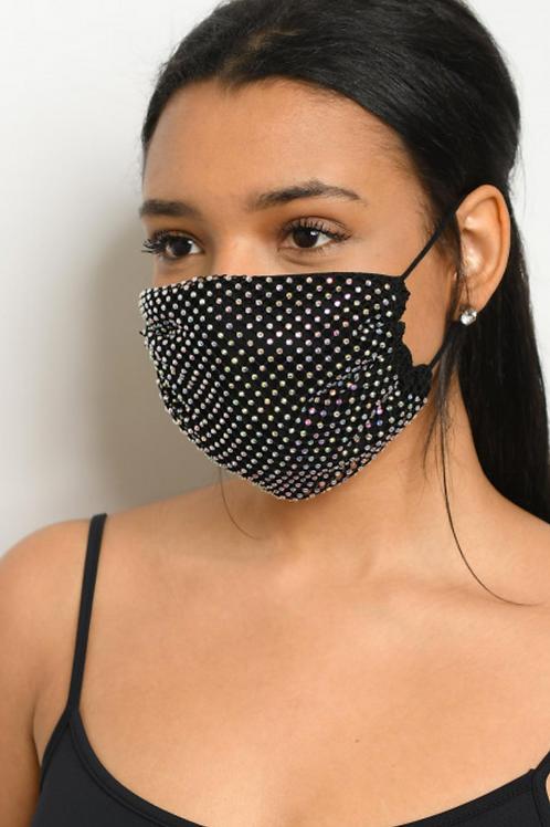 Sparkly Black Mask