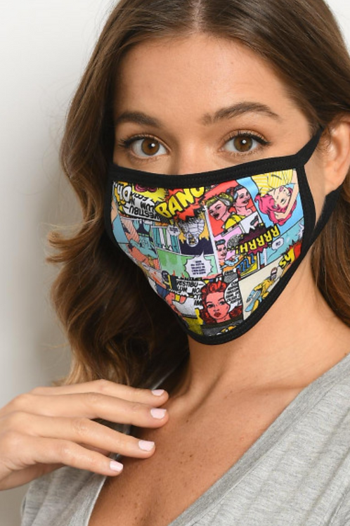 Comic Face Mask