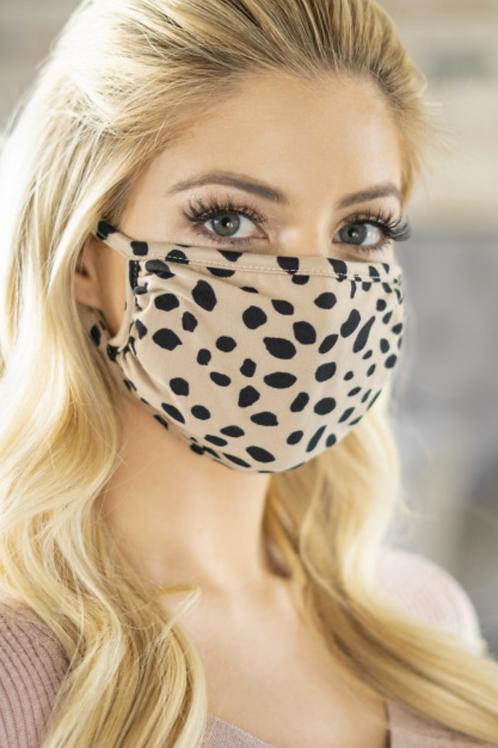 Dalmation Face Mask