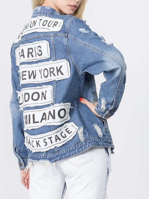 Plus Size Fashion Denim Jacket