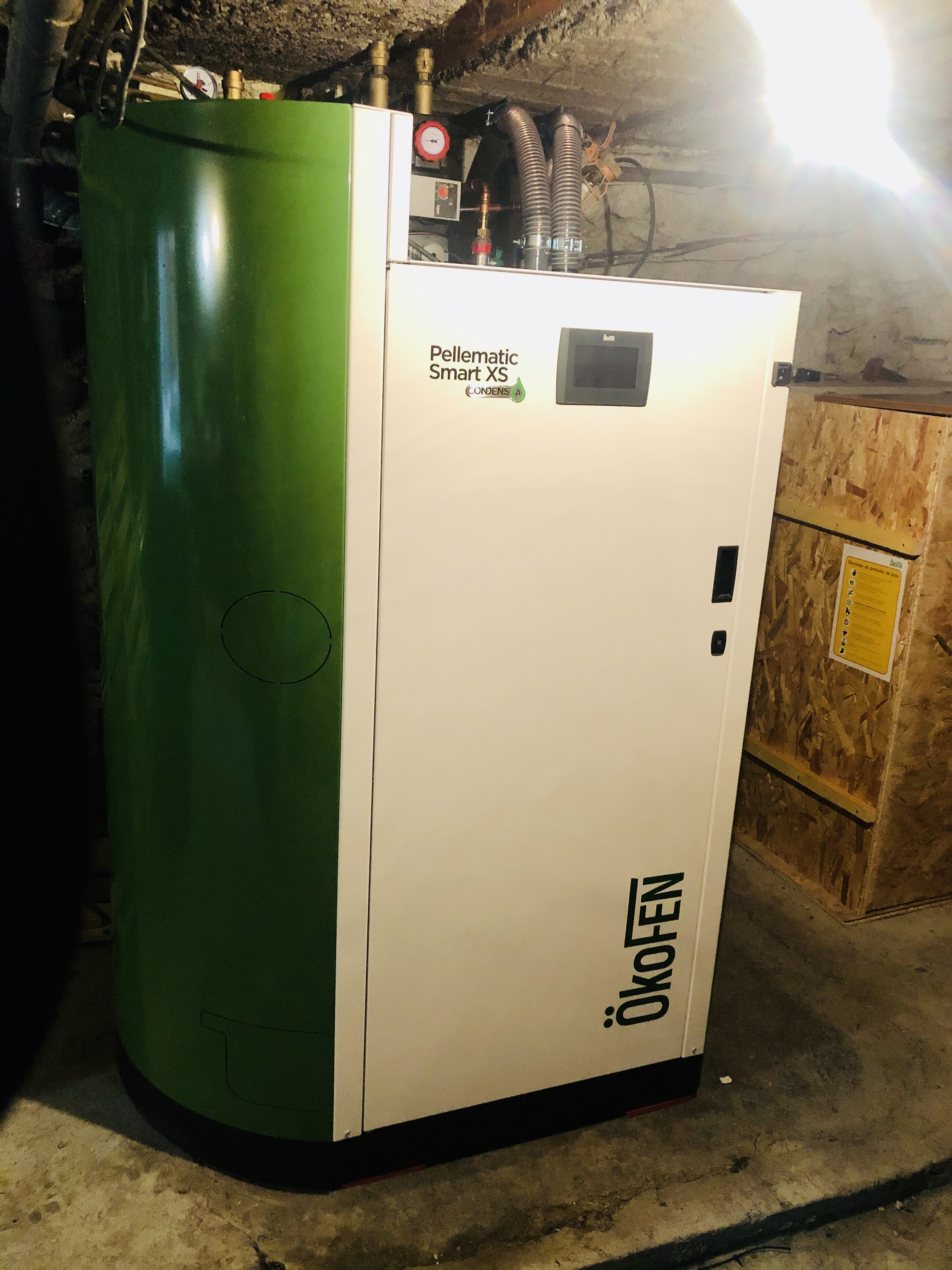 Chauffage central pellets + ECS + ECS
