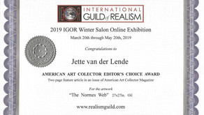 American Art Collector Editor's choice Award