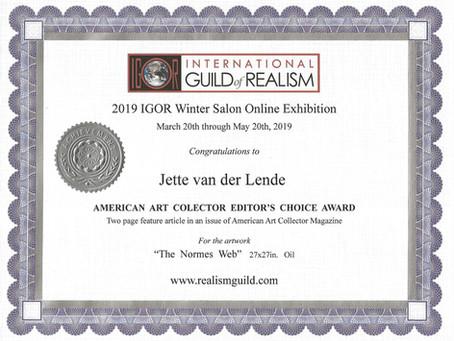 American Art Collector Editor's choice Award