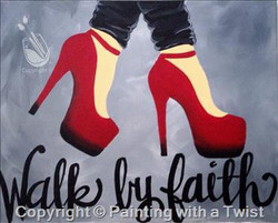 Walk by Faith red shoes