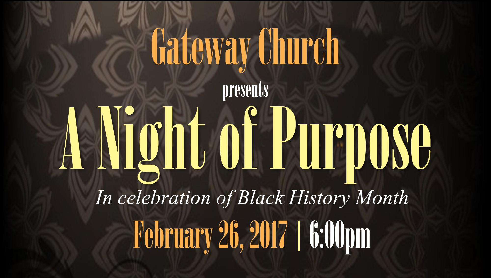 Black History Night of Purpose