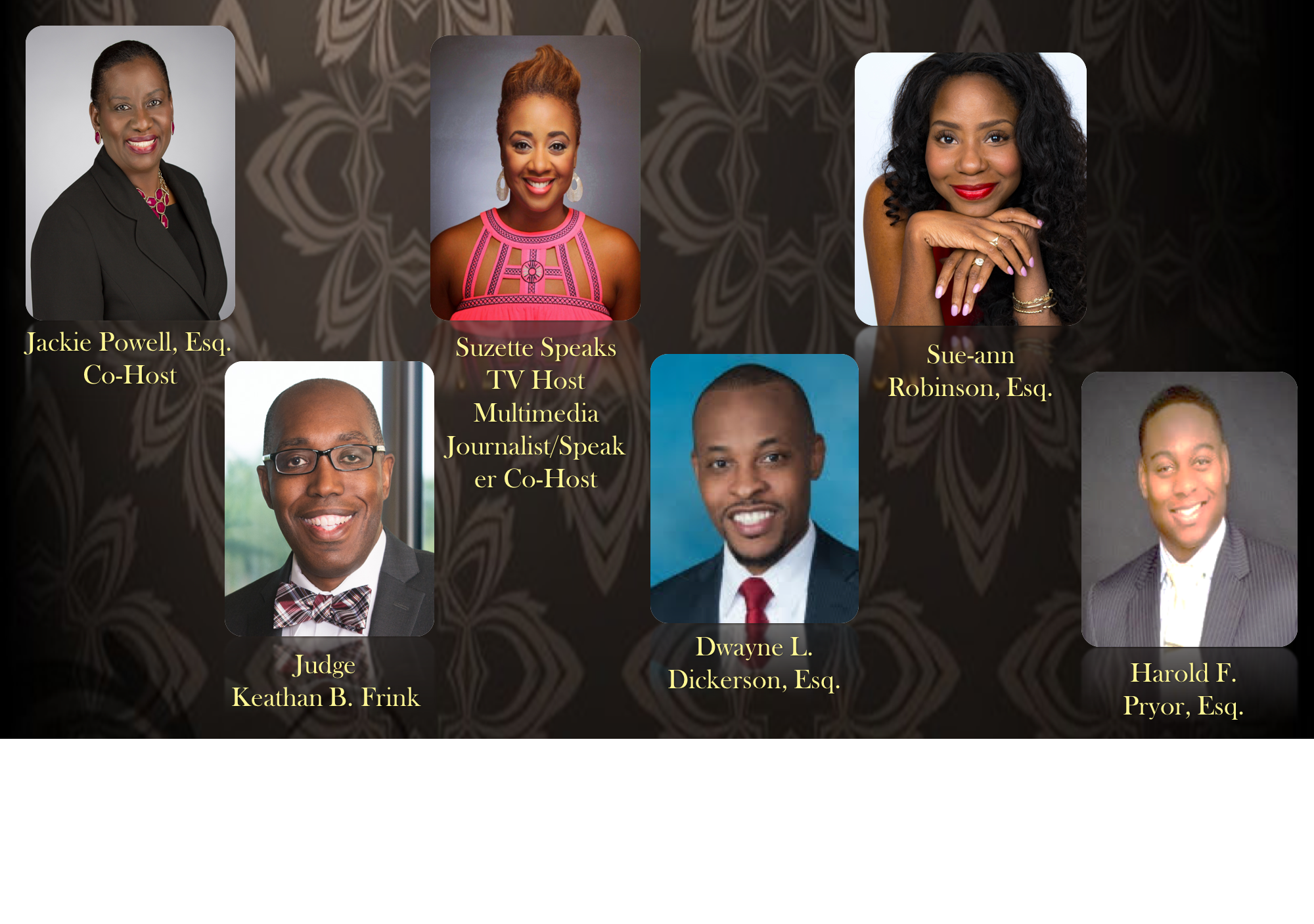 Black History Night of Purpose Speakers