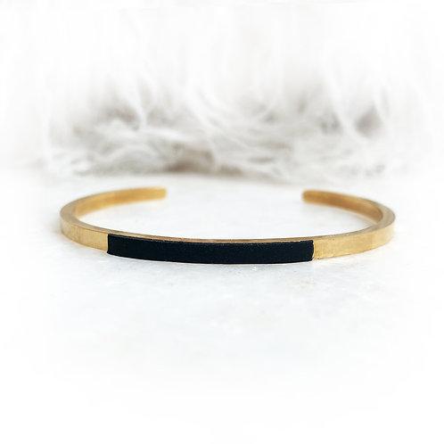 Mini jonc noir - AI Or