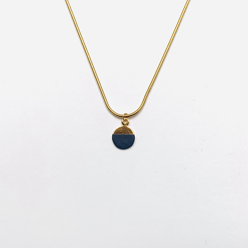 Collier demi-lune Cobalt