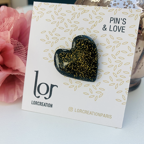 Pin's & Love Black