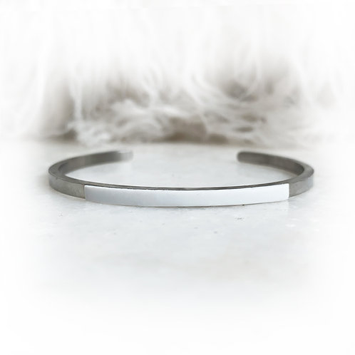 Mini jonc blanc - AI Argent