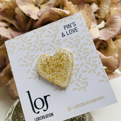 Pin's & Love White