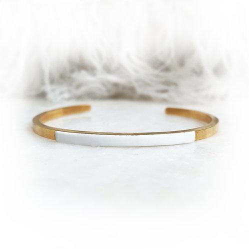 Mini jonc blanc - AI Or