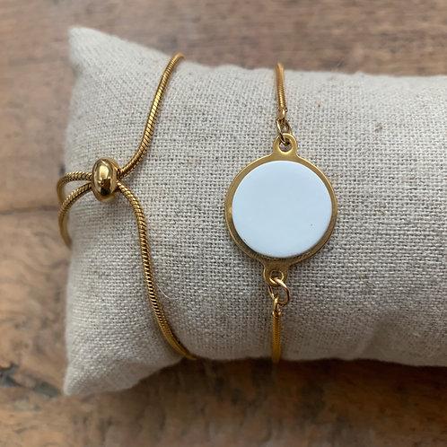 Bracelet serpentine Blanc lisse