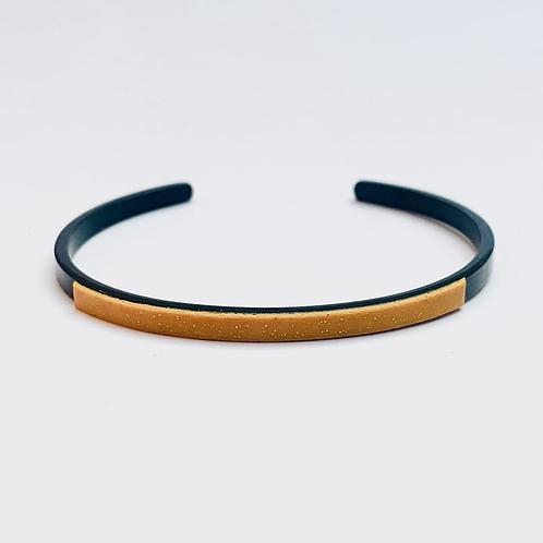 Mini jonc MAÏS Doré - AI Noir