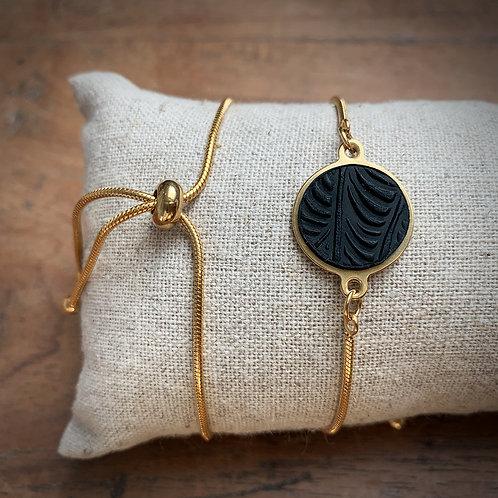 Bracelet serpentine Noir