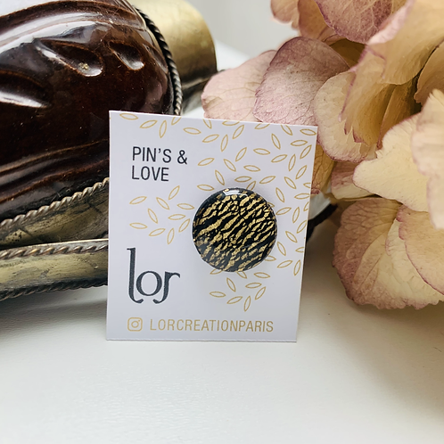 Pin's & Love Black Gold