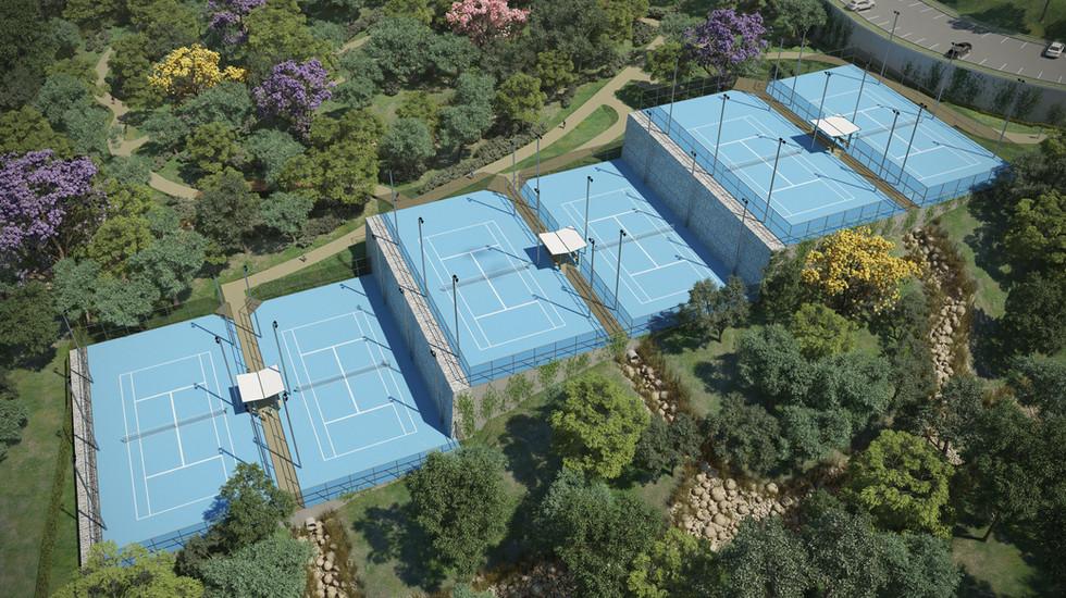 Santa Ana Country Club - Canchas de Tennis