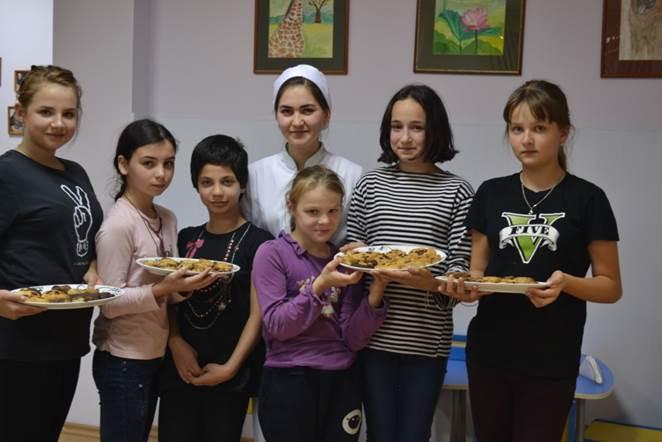 кулинарный мастер - класс с волонтерами.