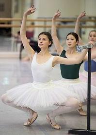 Valerie taking class Australian Ballet.j