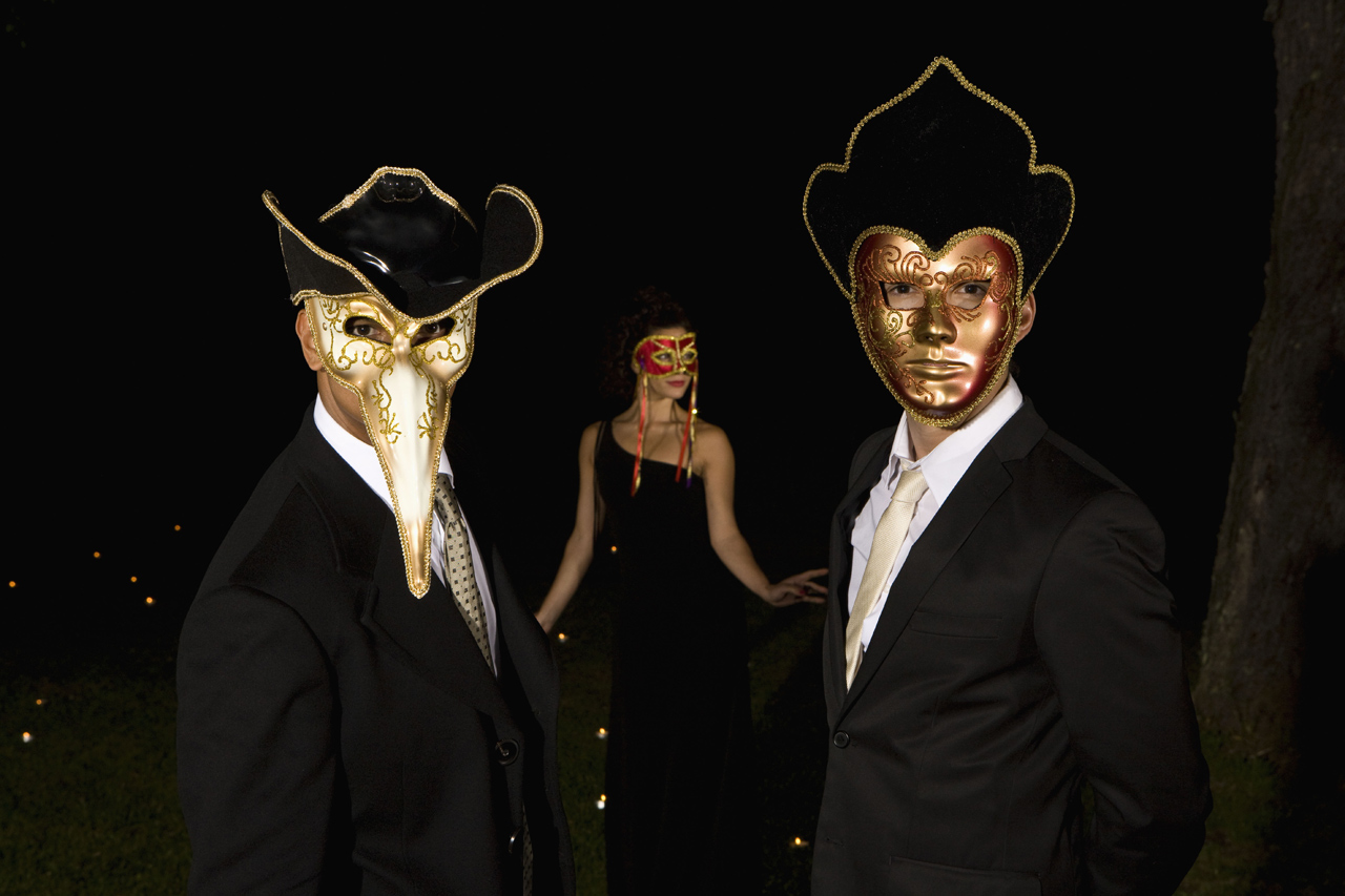 Masked Men at Masquerade Ball