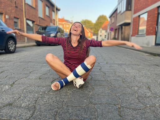Voetsel om van te groeien:                                  een gesprek met mijn gebroken voet