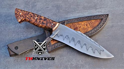 Handmade Forget 1095 High Carbon Steel Skinning Knife