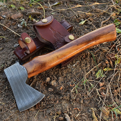 Angry Dwarf Damascus Steel Outdoor Camping Axe