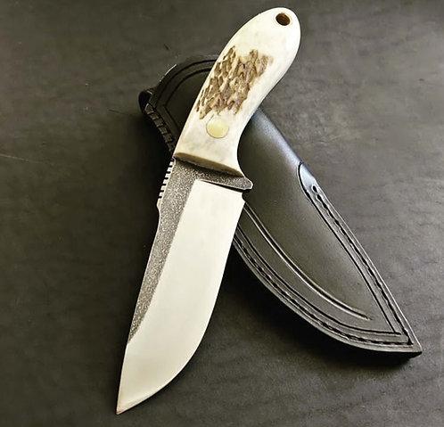 Real Antler Horn Handle Skinning Knife