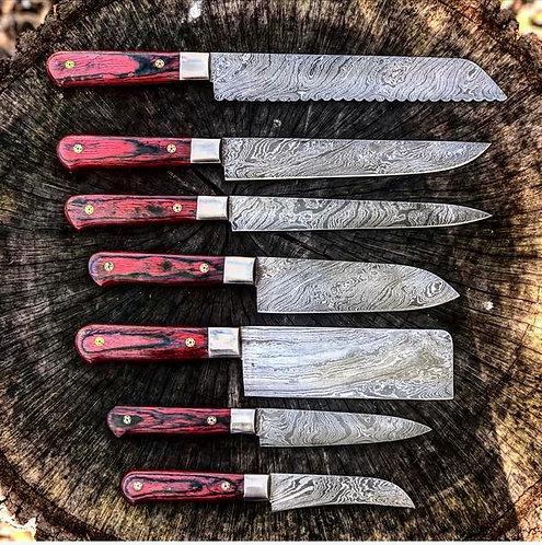 Damascus Steel Kitchen Chef knives
