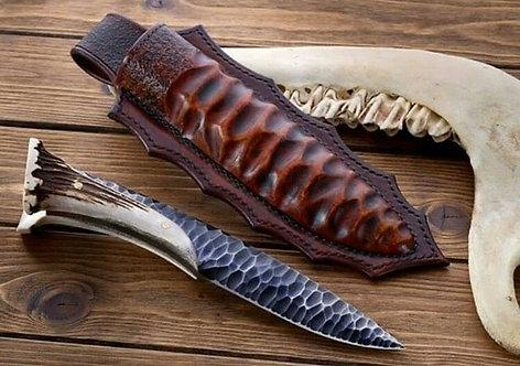Handmade Antler Crown 1095 High Carbon steel Hunting Knife