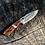 Thumbnail: Smaller Damascus Steel hunting knife