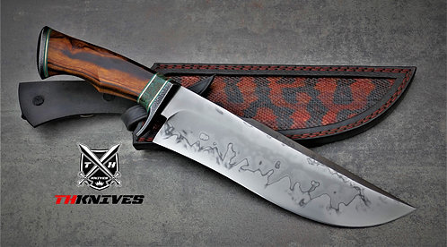 Handmade 1096 Forged Bowie knife