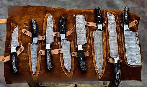 Damascus Steel 8 Pieces Of Kitchen Set