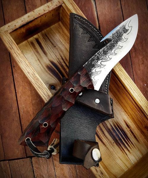 Handmade 1095 High Carbon Steel Gut Hook Knife