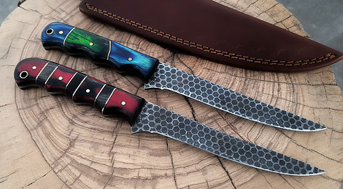 Damascus Steel Filet Fishing Pair Deal For Both