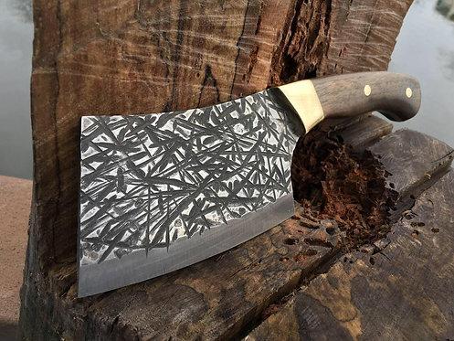 Handmade D2 Steel Serbian Kitchen Chef Cleaver