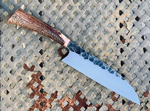 Handmade Natural Antler horn Handle Kitchen Chef knife