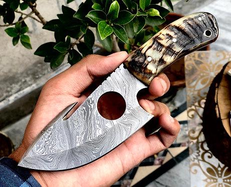 Full Tang Damascus Steel Guy Hook Knife