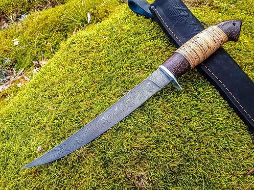 Handmade Damascus Steel Filet Fishing Knife