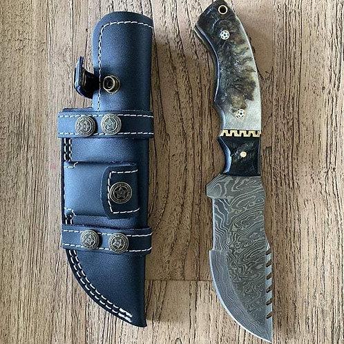 Custom Handmade Damascus Steel Tracker Knife